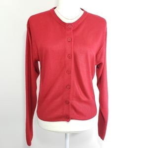 Express Button Up Red Cardigan Sweater, Size XS